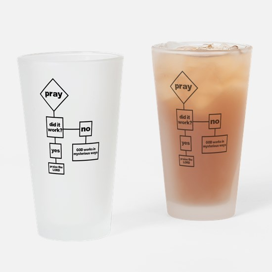 Prayer Flow Chart Drinking Glass