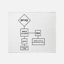 Prayer Flow Chart Throw Blanket