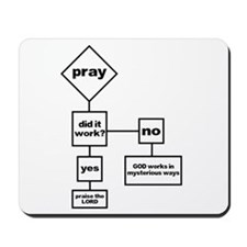 Prayer Flow Chart Mousepad