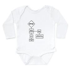 Prayer Flow Chart Long Sleeve Infant Bodysuit