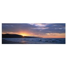 Sunset over a hill, Union Bay, Lake Superior, Uppe Poster