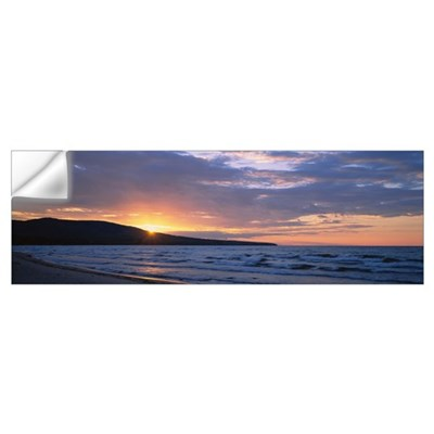Sunset over a hill, Union Bay, Lake Superior, Uppe Wall Decal