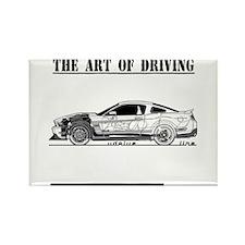 Driving Art Pony Car Rectangle Magnet (10 pack)