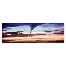 Tornado in the sky Poster