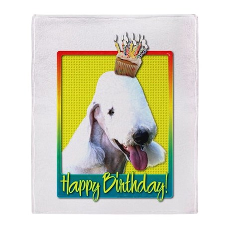 Birthday Cupcake - Bedlington Throw Blanket