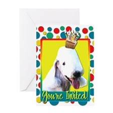 Invitation Cupcake - Bedlington Greeting Card