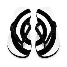 Black Bullseye Flip Flops