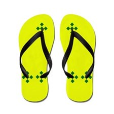 Green and Yellow Flip Flops