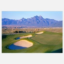 High angle view of a golf course, Taos, New Mexico