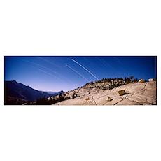 California, Yosemite National Park, startrails Poster