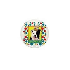Birthday Cupcake - Bedlington Mini Button (10 pack