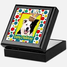 Birthday Cupcake - Border Collie Keepsake Box