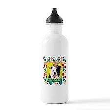 Birthday Cupcake - Border Collie Water Bottle