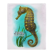 Pacific Seahorse Throw Blanket