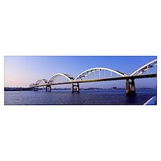 Illinois, Iowa, Centennial Bridge Poster