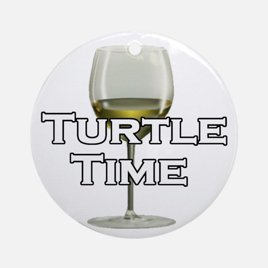 Turtle Time Ornament (Round)