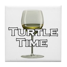 Turtle Time Tile Coaster