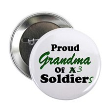 Proud Grandma 3 Soldiers Button