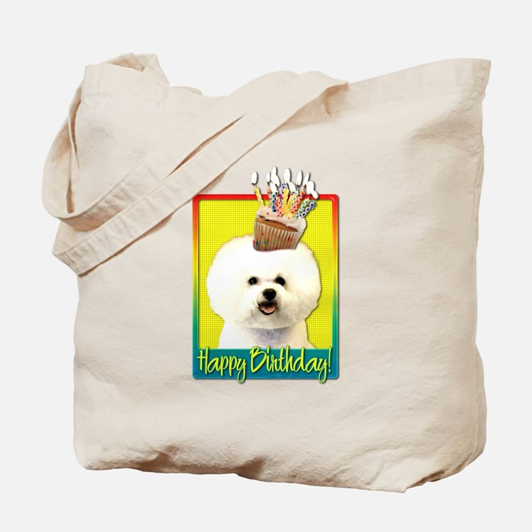 Birthday Cupcake - Bichon Tote Bag
