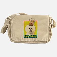 Birthday Cupcake - Bichon Messenger Bag