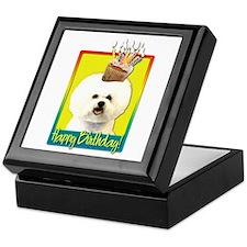 Birthday Cupcake - Bichon Keepsake Box
