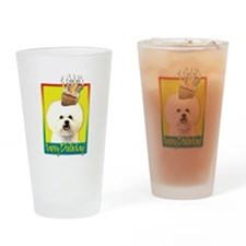 Birthday Cupcake - Bichon Drinking Glass