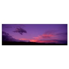 New Mexico, Pojaque, sunset Poster
