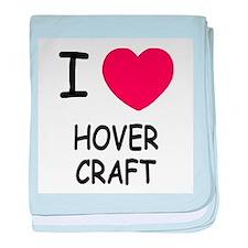 I heart hovercraft baby blanket