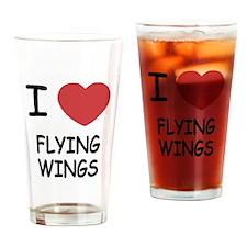 I heart flying wings Drinking Glass