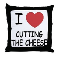 I heart cutting the cheese Throw Pillow