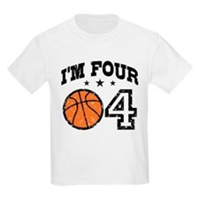 Four Year Old Basketball T-Shirt