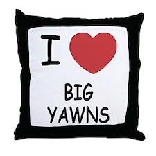 I heart big yawns Throw Pillow