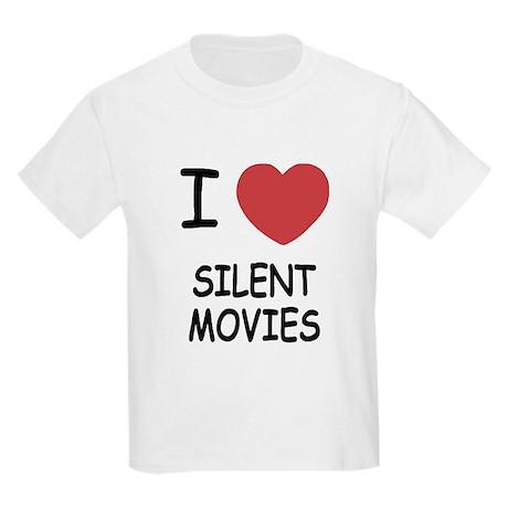 I heart silent movies Kids Light T-Shirt