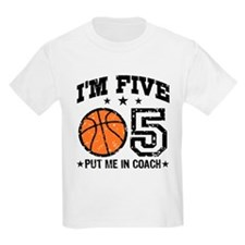 Five Year Old Basketball T-Shirt