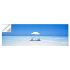 Beach Parasol and Chairs Maldives Wall Decal
