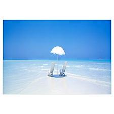 Beach Parasol and Chairs Maldives