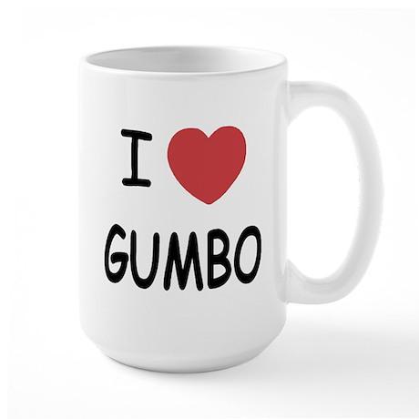 I heart gumbo Large Mug