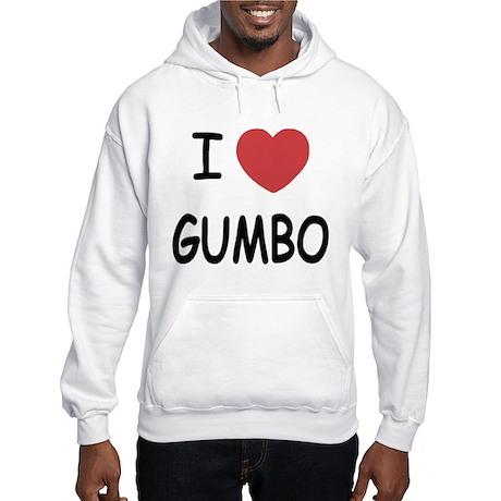 I heart gumbo Hooded Sweatshirt
