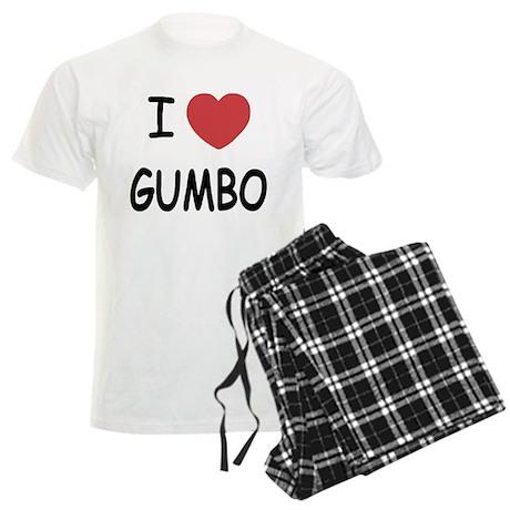 I heart gumbo Men's Light Pajamas