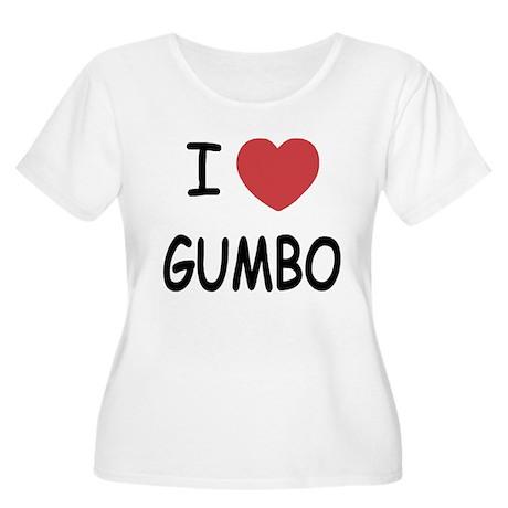 I heart gumbo Women's Plus Size Scoop Neck T-Shirt