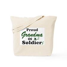 Proud Grandma 2 Soldiers Tote Bag