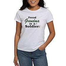 Proud Grandma 2 Soldiers Tee