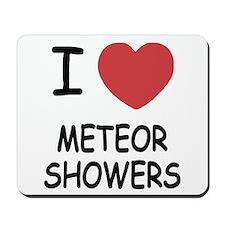 I heart meteor showers Mousepad