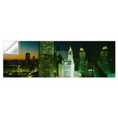 Night Chicago IL Wall Decal