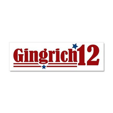 Gingrich 2012 Car Magnet 10 x 3