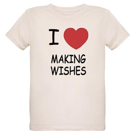 I heart making wishes Organic Kids T-Shirt