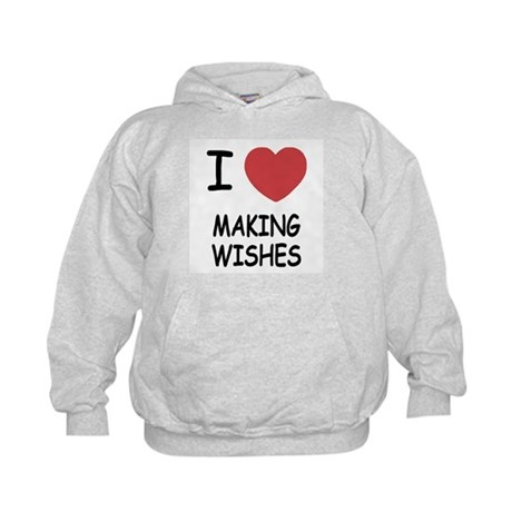 I heart making wishes Kids Hoodie