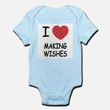 I heart making wishes Infant Bodysuit