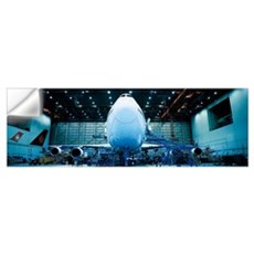 Hangar w\ plane Montreal Quebec Canada Wall Decal
