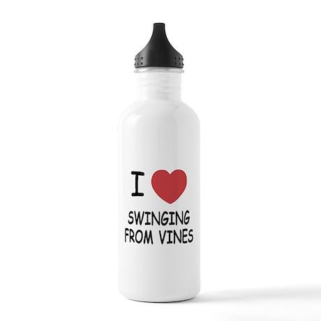 I heart swinging from vines Stainless Water Bottle